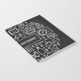 Great Outdoors Inverted Notebook