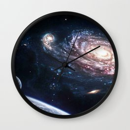 universe space Wall Clock