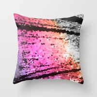 pastel Throw Pillows featuring pastel by 2sweet4words Designs