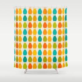 my neighbor pattern Shower Curtain