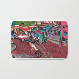 Street Car in Hanoi Bath Mat