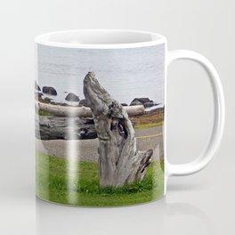 Driftwood Fence and the Sea Coffee Mug