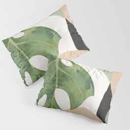 Abstract Art Tropical Leaves 3 Pillow Sham