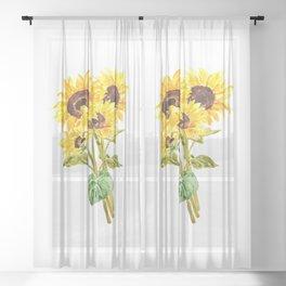 sunflower bouquet 2020 Sheer Curtain