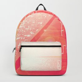 Baby It's Hot Outside Typography on Summer Day Backpack
