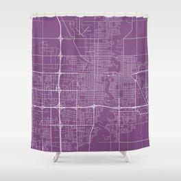 Fargo Map, USA - Purple Shower Curtain
