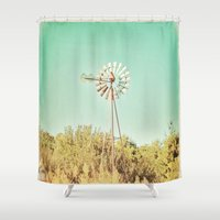 american beauty Shower Curtains featuring American Beauty Vol 13 by Farmhouse Chic