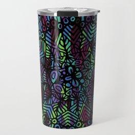 Purple and Green Doodle 14 Travel Mug