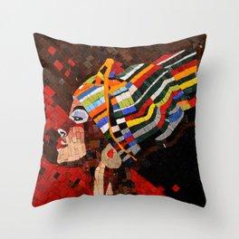 AFRICA QUEEN Throw Pillow