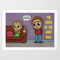 The Curse of the Werewolf Art Print