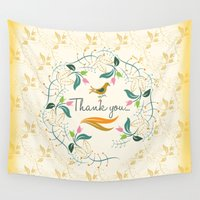thank you Wall Tapestries featuring Thank you by famenxt