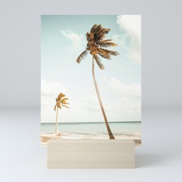 Summer Beach with Palms Mini Art Print