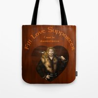 fili Tote Bags featuring Fili Love Supporter by wolfanita