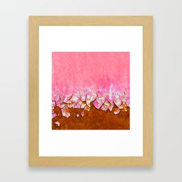 Pink and Rust Framed Art Print