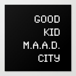good kid m.AA.d city Canvas Print