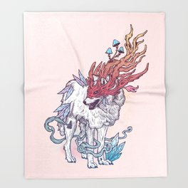 Spirit Animal - Wolf Throw Blanket