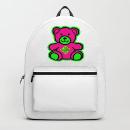 My Lucky Teddy jGibney The MUSEUM Magenta Society6 Gifts Backpack