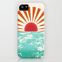 Keepin' It Real - retro 70s vibes throwback ocean sunset sunrise socal surfing beach life 1970's iPhone Case
