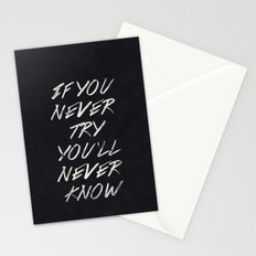 II. If you never try Stationery Cards