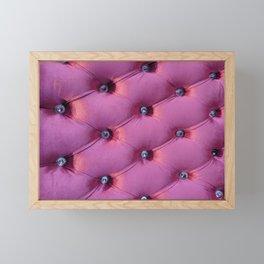 Pink velvet Framed Mini Art Print