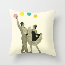 Throwing Shapes on the Dance Floor Throw Pillow