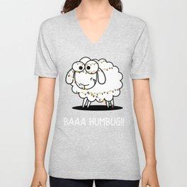 Christmas Baaa Humbug Sheep Gift Unisex V-Neck