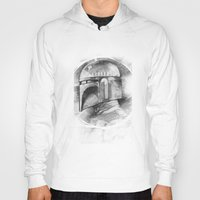 boba fett Hoodies featuring Boba Fett by The Art of Joshua Davis