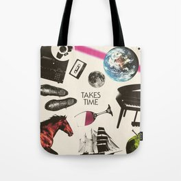 Jim Guthrie Takes Time 80s Design Tote Bag