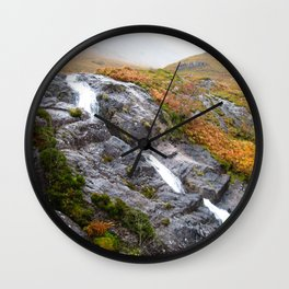 Highland Waterfall Wall Clock