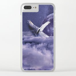 Having a whale of a time Clear iPhone Case