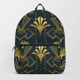 Art Deco Golden Elegance Backpack