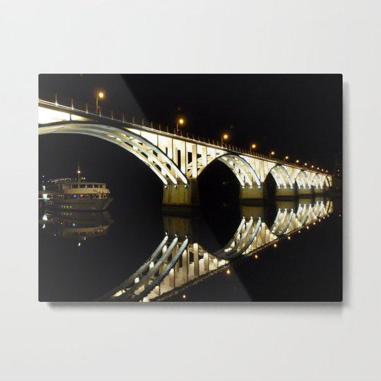 Barca d'Alva Bridge Metal Print