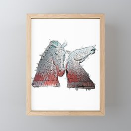 The Kelpies Framed Mini Art Print