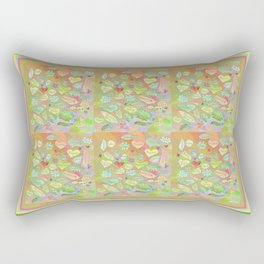 Positive Thought Leaves, Hearts, Flowers Rectangular Pillow