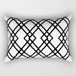 Garden Gate in Balck and White Rectangular Pillow