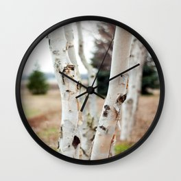 Line of Birches Wall Clock