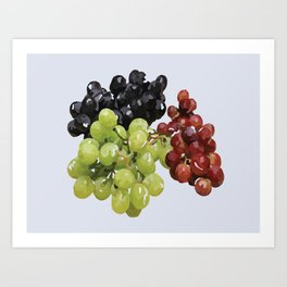 Grape Bunches Art Print