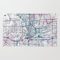 atlanta Area & Throw Rugs featuring Atlanta map by MapMapMaps.Watercolors
