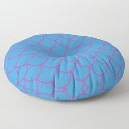 Blue & Purple Fish Scales Pattern Floor Pillow