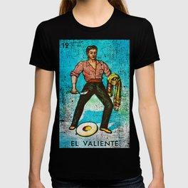 El Valiente Mexican Loteria Bingo Card T-shirt