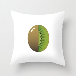 Sweet kiwi Throw Pillow