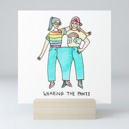 Wearing the Pants - lesbian / feminist / sapphic / lgbt art Mini Art Print