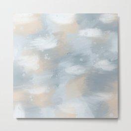 Cloudy Metal Print
