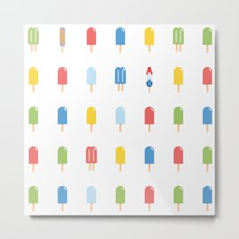 Popsicle Pattern - Bright Random Pops #609 Metal Print