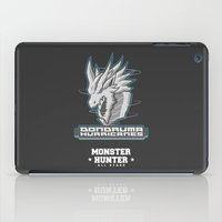 monster hunter iPad Cases featuring Monster Hunter All Stars - The Dondruma Hurricanes by Bleached ink