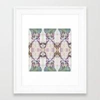 jane davenport Framed Art Prints featuring Dear Deer (2) by Jane Davenport - by Jane Davenport