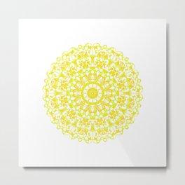 Mandala 12 / 3 eden spirit yellow Metal Print