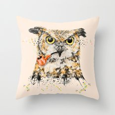 Mr.Owl II Throw Pillow