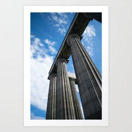 The National Monument, Calton Hill Art Print