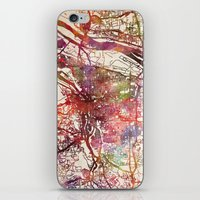 portland iPhone & iPod Skins featuring Portland by MapMapMaps.Watercolors